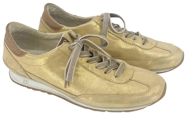 Item - Gold Leather Sneakers Size US 10 Regular (M, B)
