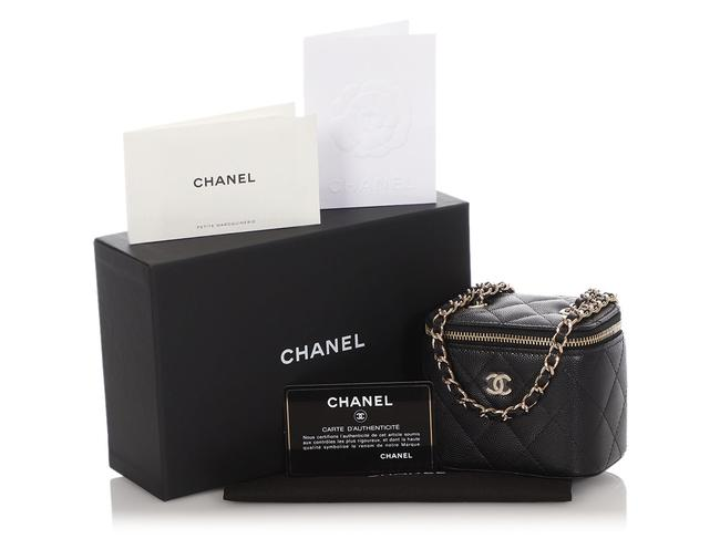 Chanel Vanity Case Mini Quilted Caviar Black Leather Cross Body Bag Chanel Vanity Case Mini Quilted Caviar Black Leather Cross Body Bag Image 2