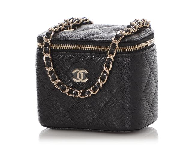 Chanel Vanity Case Mini Quilted Caviar Black Leather Cross Body Bag Chanel Vanity Case Mini Quilted Caviar Black Leather Cross Body Bag Image 3