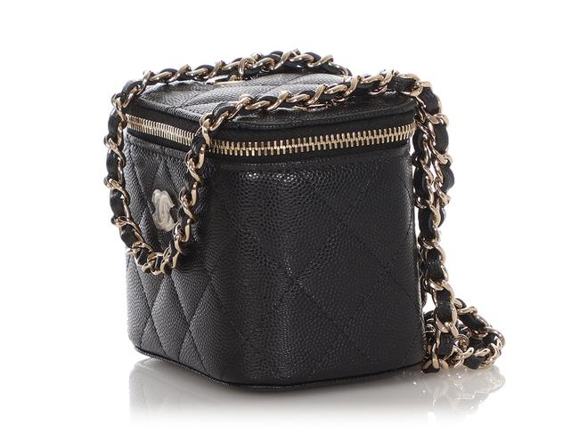 Chanel Vanity Case Mini Quilted Caviar Black Leather Cross Body Bag Chanel Vanity Case Mini Quilted Caviar Black Leather Cross Body Bag Image 4