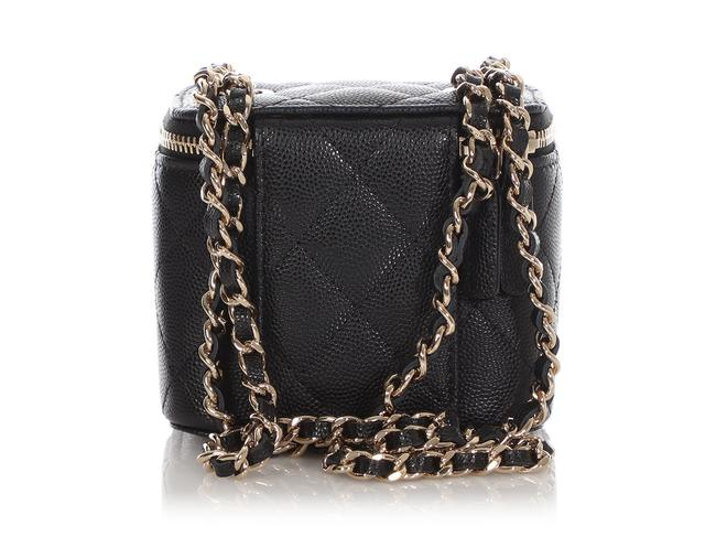 Chanel Vanity Case Mini Quilted Caviar Black Leather Cross Body Bag Chanel Vanity Case Mini Quilted Caviar Black Leather Cross Body Bag Image 5