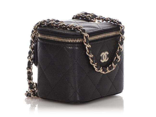 Chanel Vanity Case Mini Quilted Caviar Black Leather Cross Body Bag Chanel Vanity Case Mini Quilted Caviar Black Leather Cross Body Bag Image 6