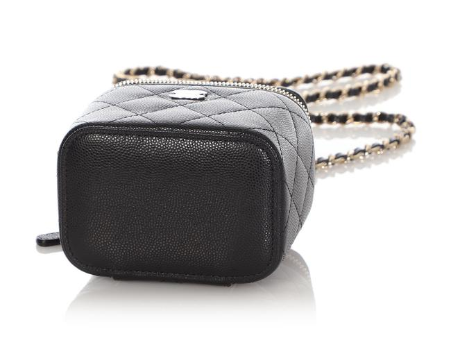 Chanel Vanity Case Mini Quilted Caviar Black Leather Cross Body Bag Chanel Vanity Case Mini Quilted Caviar Black Leather Cross Body Bag Image 7