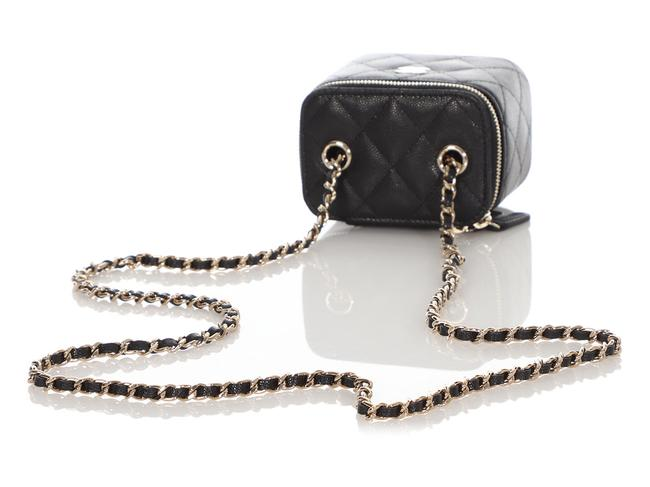 Chanel Vanity Case Mini Quilted Caviar Black Leather Cross Body Bag Chanel Vanity Case Mini Quilted Caviar Black Leather Cross Body Bag Image 8