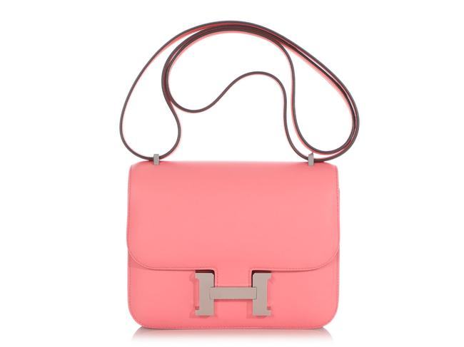Item - Constance **sold**rose D'ete Swift 18 Pink Leather Cross Body Bag