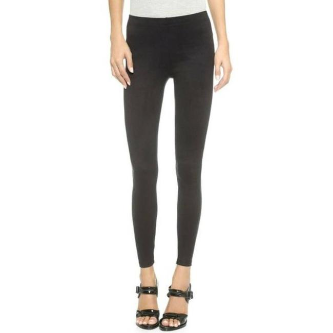 Item - Black Faux Suede Large High End Fall Winter Leggings Size 12 (L, 32, 33)