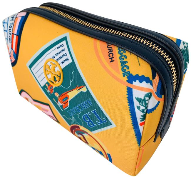 Item - Yellow/Multi Perry New Travel Patches Nylon Cosmetic Bag