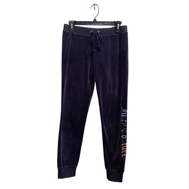 Item - Blue Velour Jogger Track Embroidered Logo Activewear Bottoms Size 0 (XS, 25)