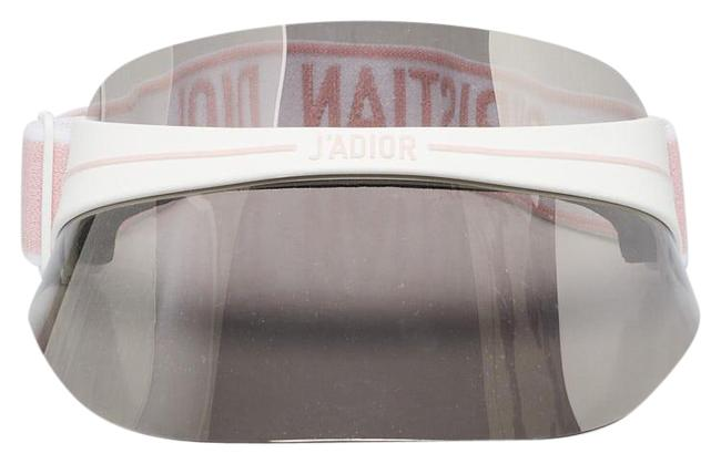 Item - White Christian Pink Acetate Frame and Mirrored Visor Club1 Hat