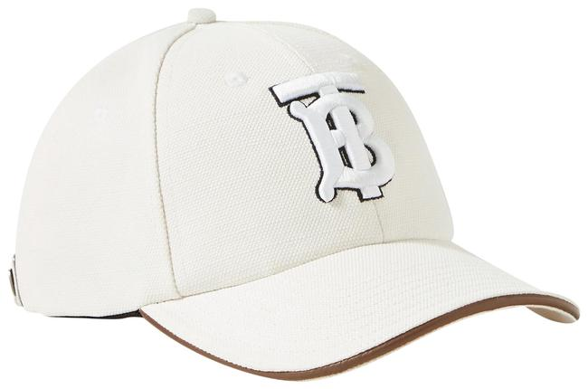 Item - White Embroidered Cotton and Linen-blend Canvas Baseball M-size Cap Hat