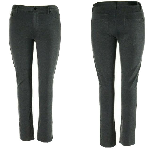 Item - Gray Career Dark Fitted Pants Size 14 (L, 34)