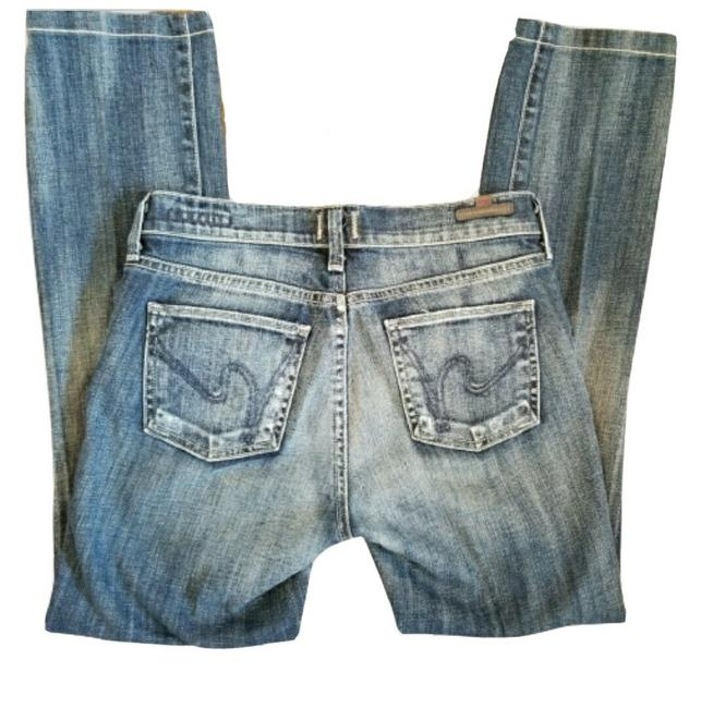 Item - Blue Medium Wash Elson Ankle Straight Capri/Cropped Jeans Size 25 (2, XS)