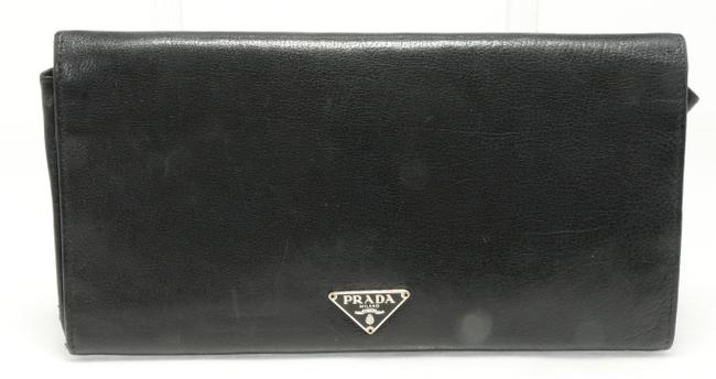 Item - Black Large Saffiano Leather Wallet Men's Jewelry/Accessory
