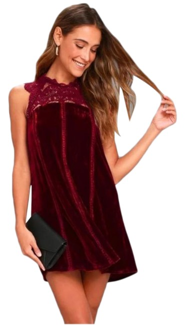 Item - Red Who's Who Velvet Short Night Out Dress Size 0 (XS)