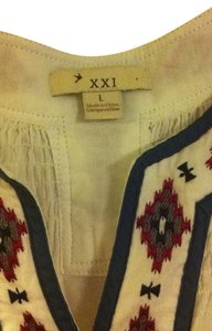 Forever 21 Top White with red and blue accents