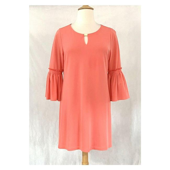 Item - Pink Coral Bell Sleeve Mid-length Work/Office Dress Size 16 (XL, Plus 0x)