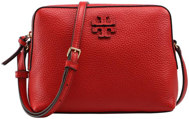 Item - Taylor Camera 55440 Brilliant Red Leather Cross Body Bag