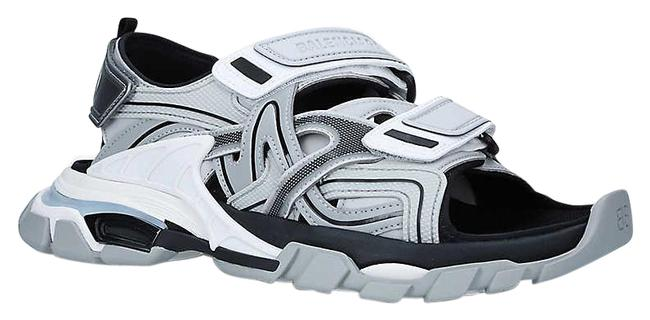 Item - Grey Track Faux-leather Sandals Size EU 39 (Approx. US 9) Regular (M, B)