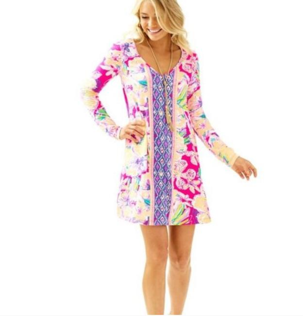 Item - Pink Long Sleeve Mid-length Short Casual Dress Size 4 (S)