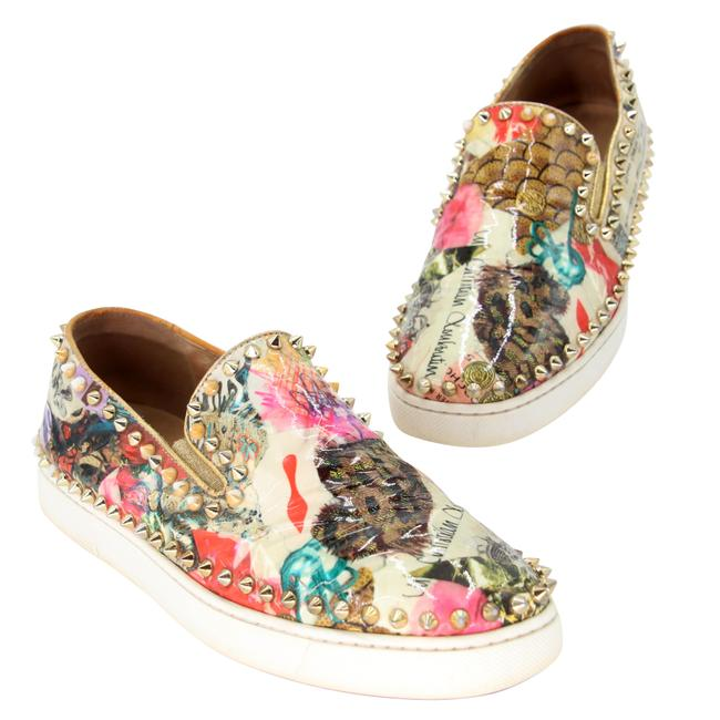 Item - Multicolor Leather Studded Boat Slip-on 39.5 Sneakers Size US 9 Regular (M, B)