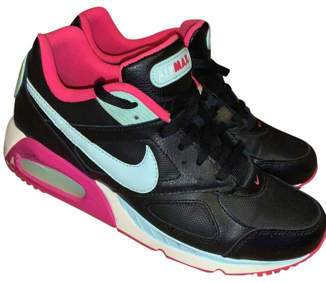 Item - Black with Light Teal and Hot Pink Accents Women's Air Max Ivo Leather Sneakers Size US 10 Regular (M, B)