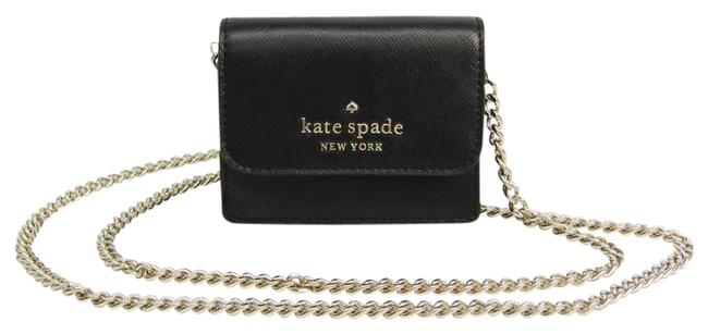 Item - Black Stacy Card Case On A Chain Mini Wlr00153 Women's Leather Chain/Shoulder Wallet