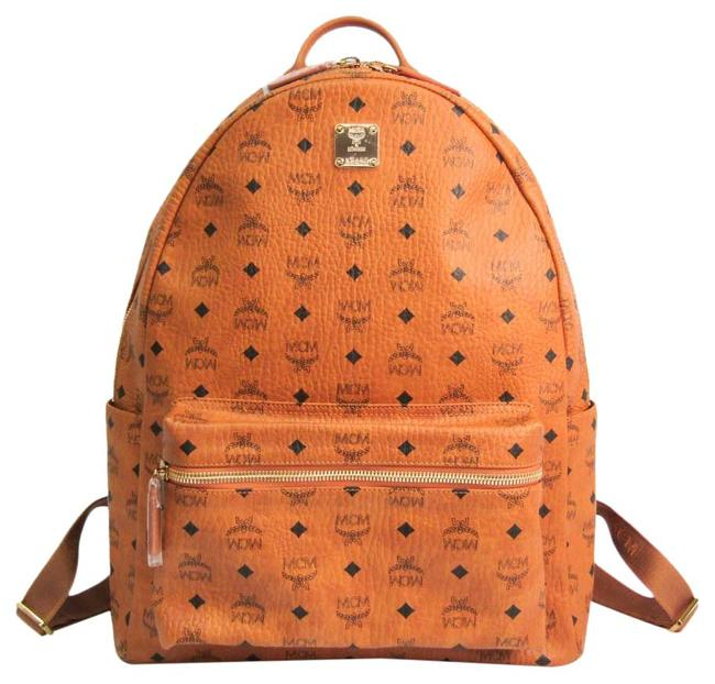 Item - Classic Large Mmk6sve29co001 Unisex Black / Brown Leather / Pvc Backpack