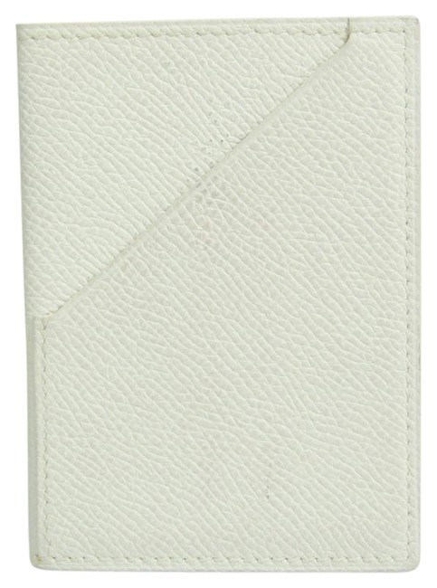 Item - White Leather Card Case Wallet