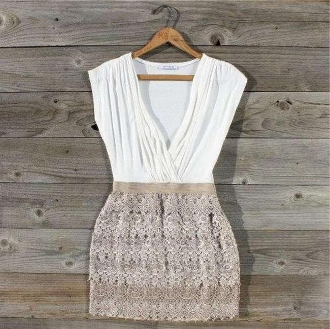 5th Culture short dress Beige Nude on Tradesy