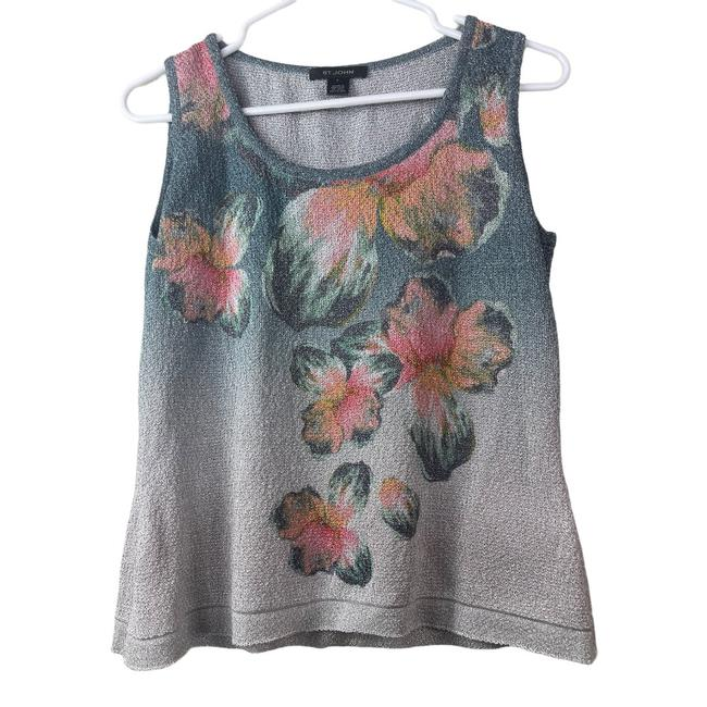 Item - Multi Colors Gray Floral Glitter Tank Top/Cami Size 6 (S)