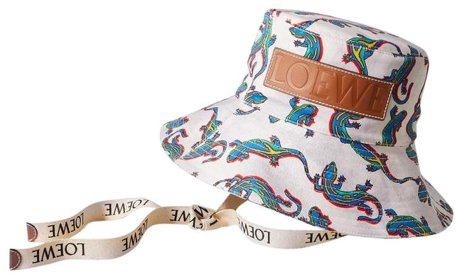 Item - Bucket New Paula's Ibiza Leather-trimmed Printed Cotton-twill Hat