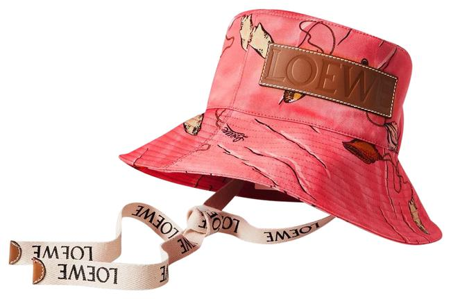 Item - Pink Bucket New Paula's Ibiza Leather-trimmed Printed Cotton-twill Hat
