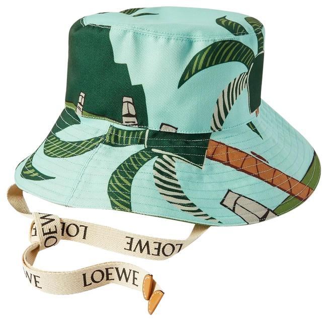 Item - Bucket New Ken Price Easter Island Leather-trimmed Printed Canvas Hat