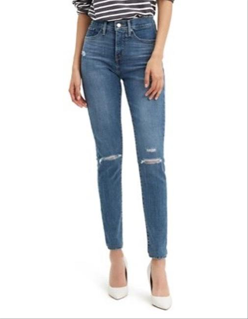 Item - Blue Distressed 311 Shaping Skinny Jeans Size 0 (XS, 25)