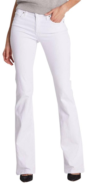 Item - White Mid Rise Flare Boot Cut Jeans Size 27 (4, S)
