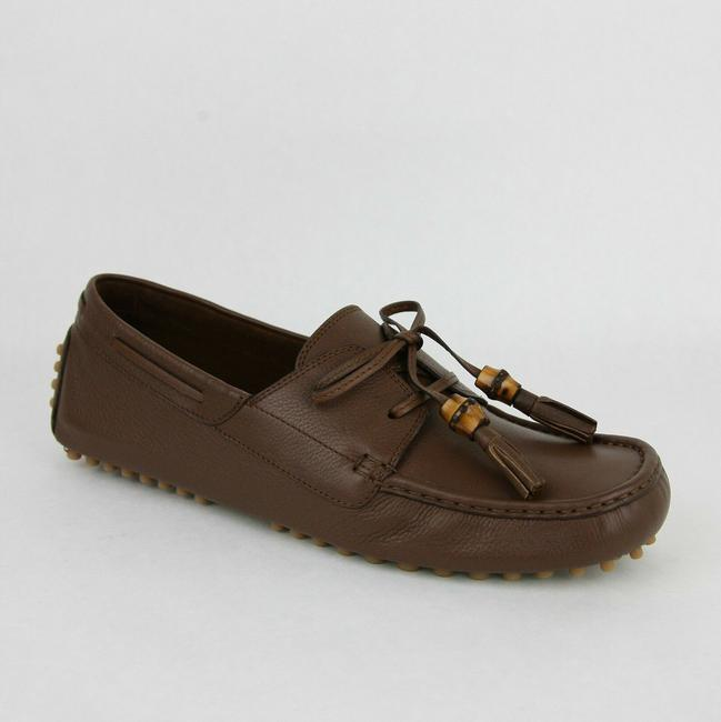 Item - Brown Men's Leather Bamboo Tassel Loafer Driver G 8.5 G/ Us 9 367923 2138 Shoes