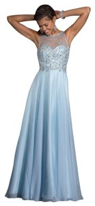 CLARISSE Prom Blue Chiffon Beaded Dress