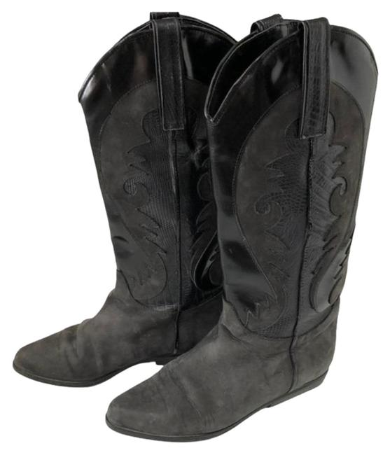 Item - Black Gray Cowgirl Boots/Booties Size US 5.5 Regular (M, B)