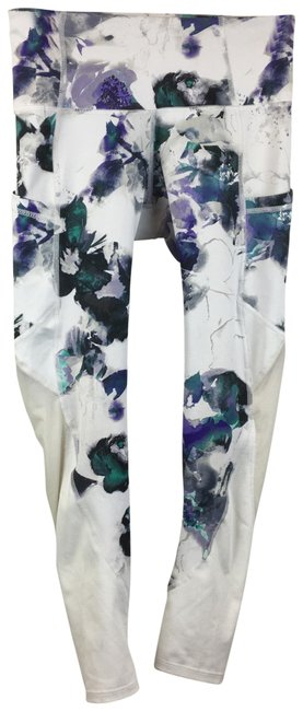 Item - White Floral 7/8 Activewear Bottoms Size 2 (XS)