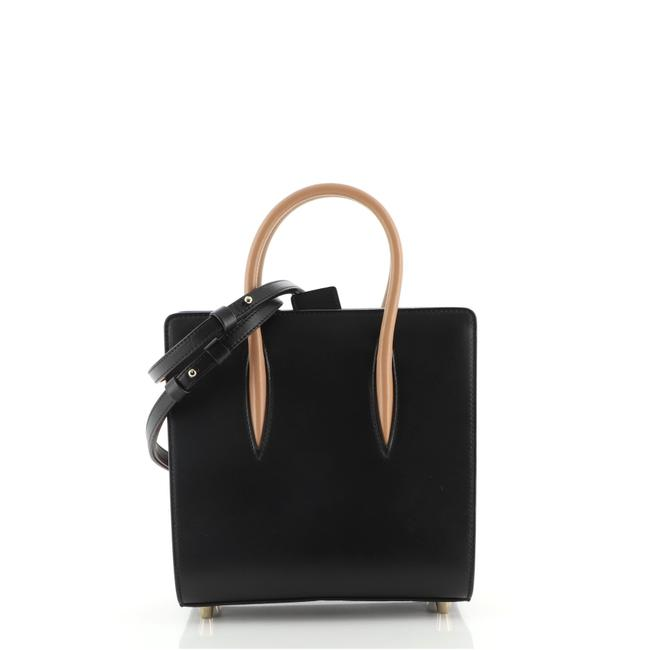 Item - Paloma Small Black Brown Print Red Leather Tote