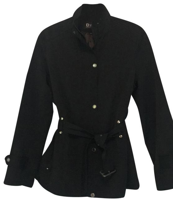 Item - Black Traditional Short Trench Jacket Size 12 (L)