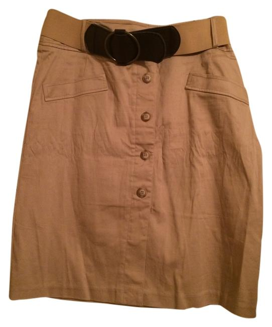 Dress Barn Pockets Belt Skirt khaki