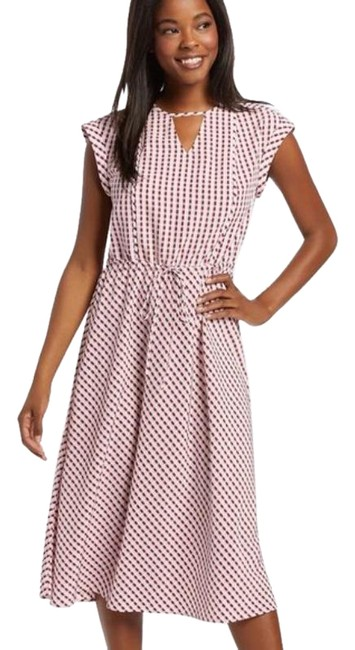 Item - Red Deep Berry Gingham Keyhole Mid-length Casual Maxi Dress Size 0 (XS)