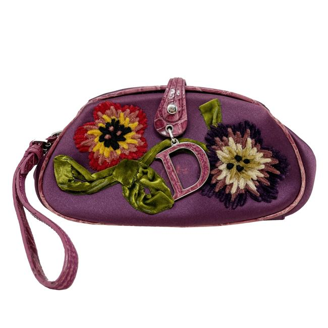 Item - 2005 Collection Embroidered Purple Satin Clutch