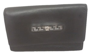 Versace Authentic Versace Key Case Black Leather