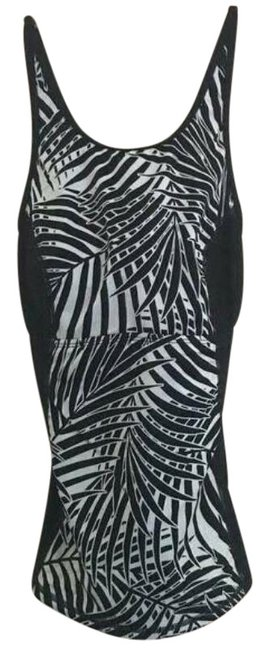 Item - Black White Frond Song Top Tankini Size 4 (S)