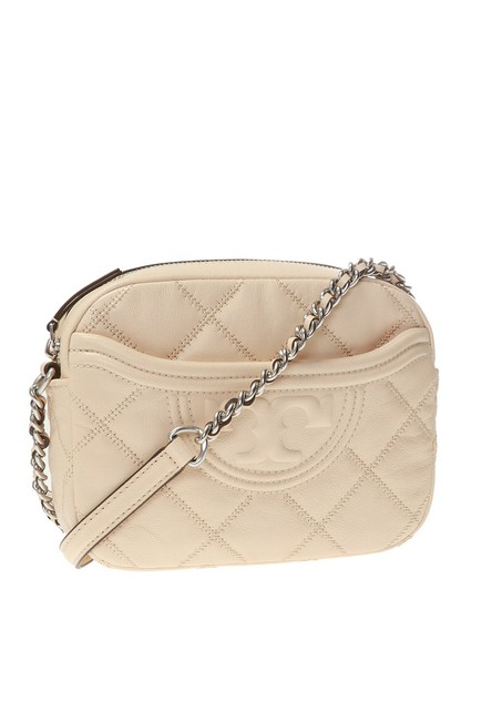 Item - Camera Fleming Soft Quilted Camera  Cream Leather Cross Body Bag