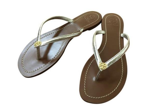 Item - Gold/Silver Box New-in-box Leather Terra Sandals Size US 10 Regular (M, B)