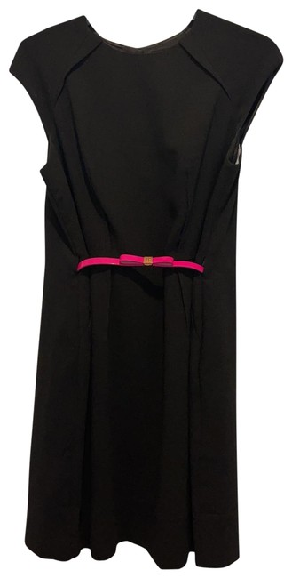 Item - Black and Pink Mid-length Work/Office Dress Size 8 (M)