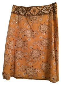 New York & Company Sequin Skirt brown and gold
